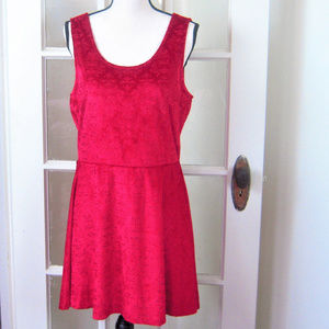 Candies XL Red Velvet Lined Cocktail Party Dress